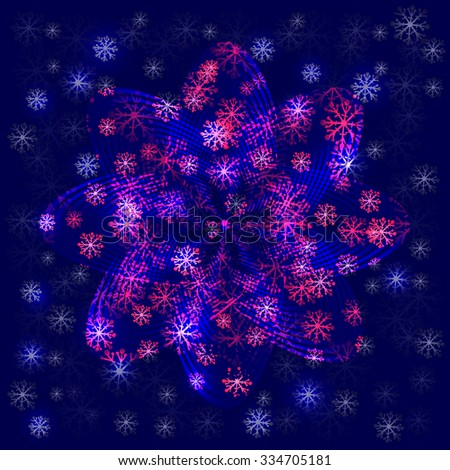 Abstract background with snowflakes, vector illustration. - stock vector