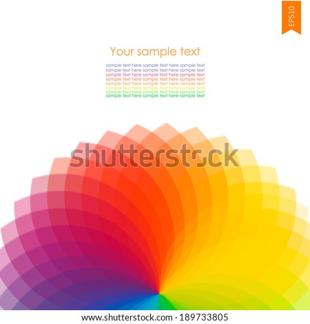 Abstract background with spectrum wheels ith place for you text - stock vector
