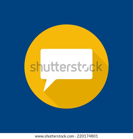 Abstract background with Speech Bubbles symbol. Chat icon. Concept showing conversation and discussion, question and answer. flat design,  long shadow - stock vector
