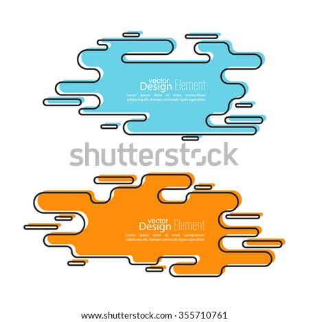 Abstract background with Speech Bubbles symbol. Chat icon. Concept showing conversation and discussion, question and answer. Line art. - stock vector