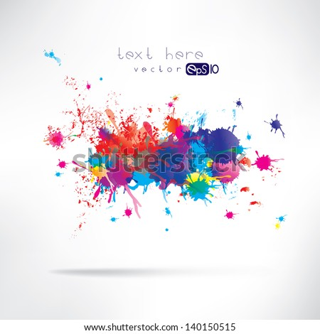 Abstract background with splash - stock vector