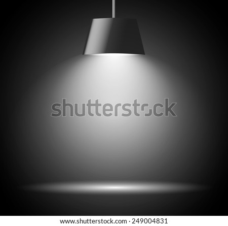 Abstract background with spot light in gray color  - stock vector