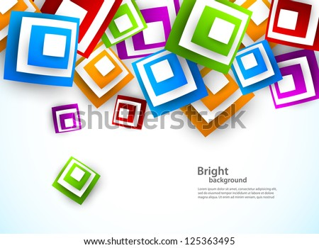 Abstract background with squares. Bright illustration - stock vector