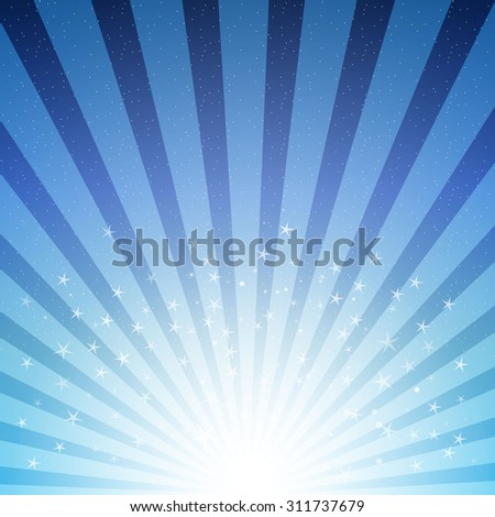 abstract background with stars and stripes in blue color - stock vector