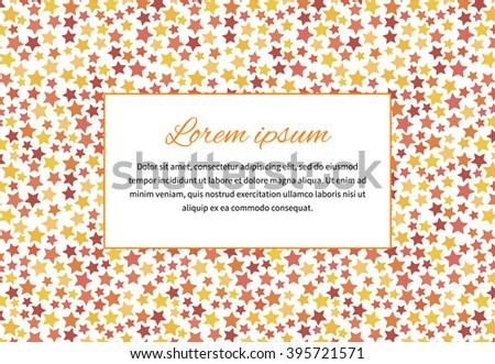 Abstract background with stars and text space, a4 size horizontal illustration - stock vector