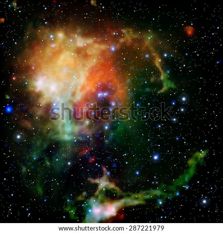 abstract background with stars nebula and galaxy Vector illustration - stock vector