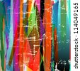 abstract background, with stripes, paint strokes and splashes - stock photo