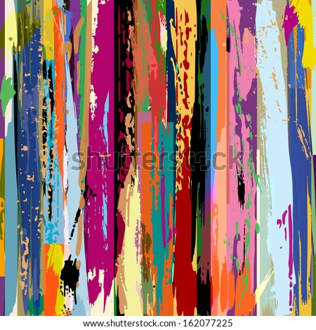 abstract background, with stripes, strokes and splashes  - stock vector