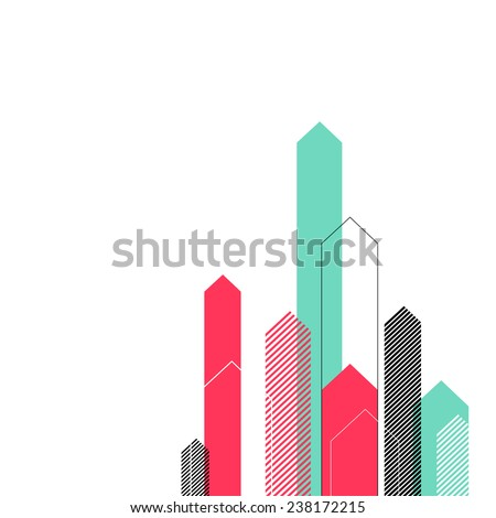 Abstract Background with Stylized Arrows to Up. For Cover Book, Brochure, Annual Report etc. - stock vector