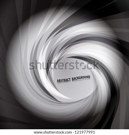 Abstract background with swirling stripes - stock vector