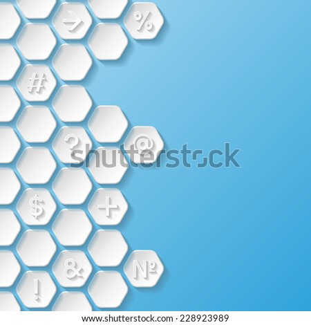 Abstract background with symbols. Vector illustration  - stock vector