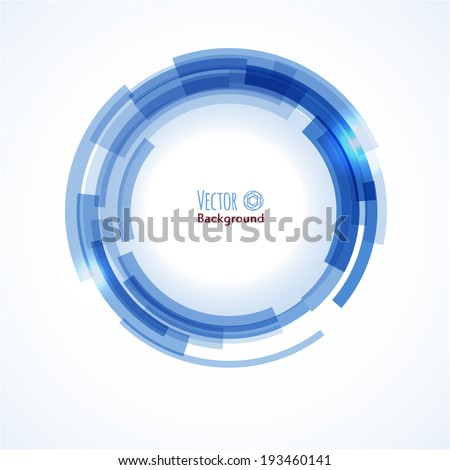 Abstract background with technology circles. Vector illustration  - stock vector
