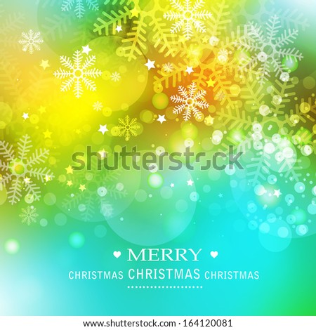abstract background with the image of snowflakes - stock vector