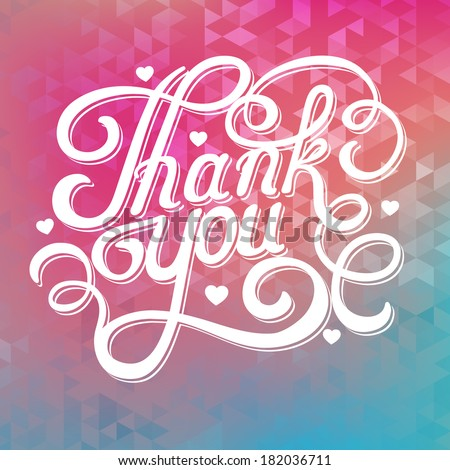abstract background with the inscription thank you  - stock vector