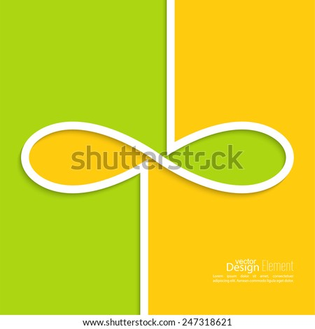Abstract background with the sign of infinity. emblem endless. The concept of eternity.  For cover book, brochure, flyer, poster, magazine, website, app mobile, annual report - stock vector