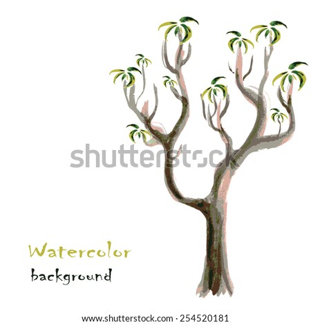 abstract background with tree, vector illustration