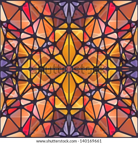 Abstract background with triangle pattern looking like stained glass - stock vector