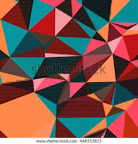 Abstract Background Triangles Colorful Geometric Shapes ...