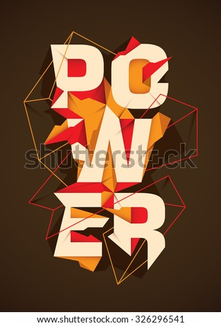 Abstract background with typography. Vector illustration. - stock vector