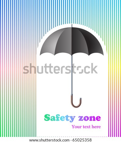 abstract background with umbrella, protection/safety zone concept - stock vector