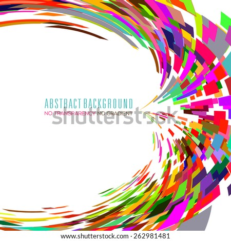 Abstract background with vibrant color tones - stock vector