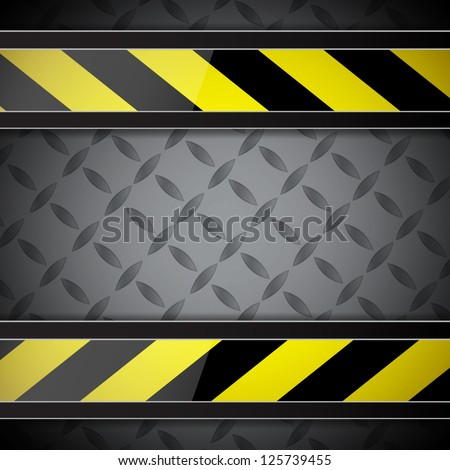 Abstract background with warning stripe. EPS10 vector