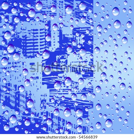 Abstract background with water drops - stock vector