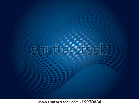 abstract background with wave halftone element