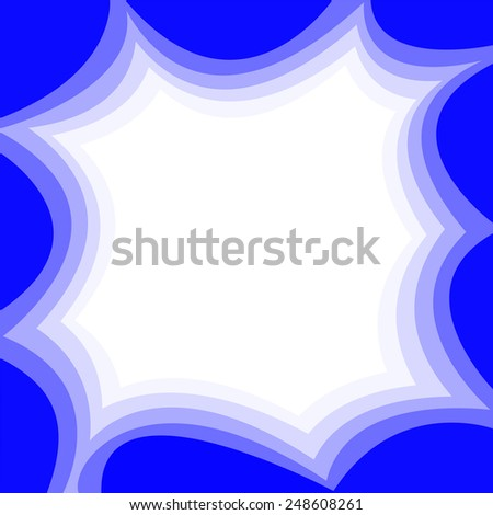 Abstract background with waves of blue sky - stock vector