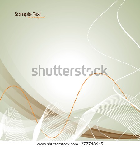 Abstract background with wavy lines. - stock vector