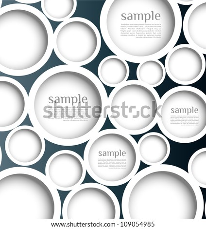 Abstract background with web design bubble, vector. Modern, clean, Design be used for banners, website layout vector - stock vector