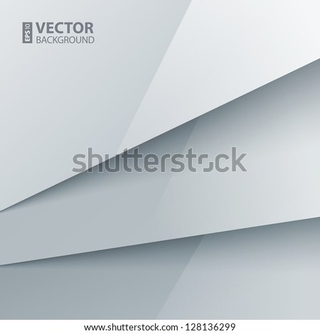 Abstract background with white paper layers. RGB EPS 10 vector illustration - stock vector