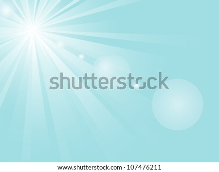 abstract background with white sun in the sky - stock vector