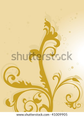 abstract background with yellow floral pattern illustration