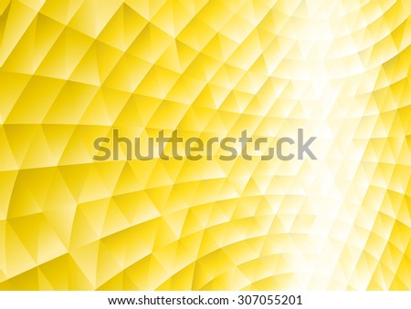 Abstract background with yellow triangular shapes - stock vector