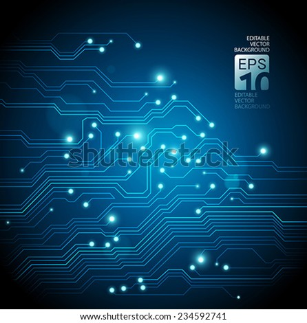 abstract backgrounds blue lights - stock vector
