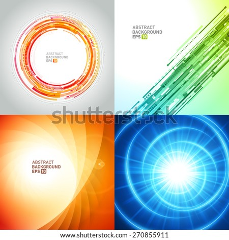 Abstract backgrounds set vector modern design can be use for Business Brochures, Flyers, Website Banners, Corporate Report, Presentation, Advertising templates - stock vector