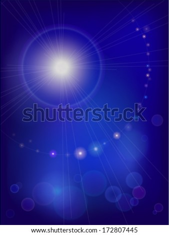 Abstract backgrounds with bright light-spots, specks of light and stars.