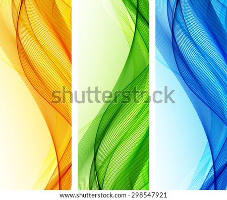 Abstract backgrounds with color waves - stock vector