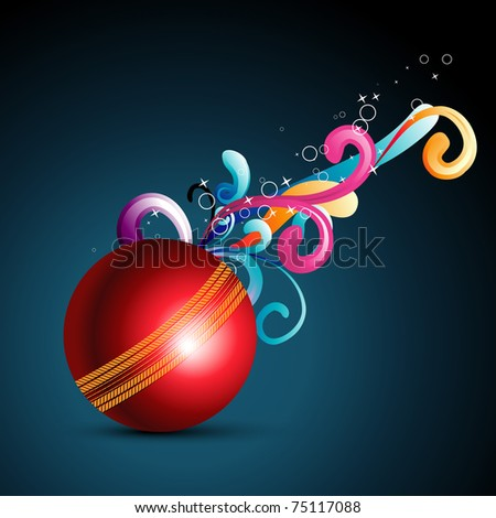 abstract ball background with floral coming out - stock vector