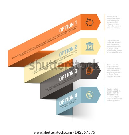 Abstract bank theme infographics template. Vector. - stock vector