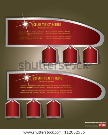 Abstract banner design for text,Vector - stock vector