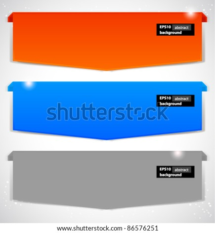 Abstract banner. Vector background. - stock vector