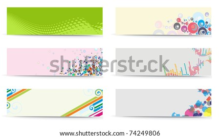 abstract banner with place for your text. vector illustration - stock vector