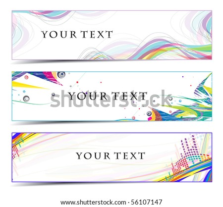 Abstract banners on colorful themes, multi-colored, vector illustration.
