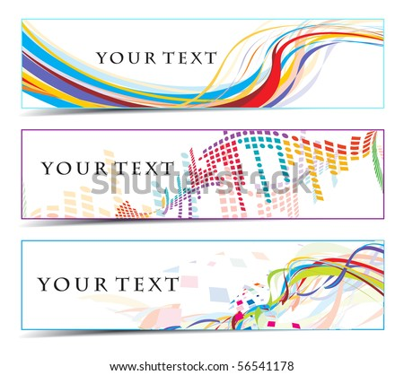 Abstract banners on colorfull themes, multi-coloured, vector illustration. - stock vector