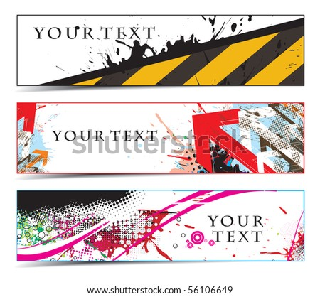 Abstract banners on construction themes, multi-colored, vector illustration.