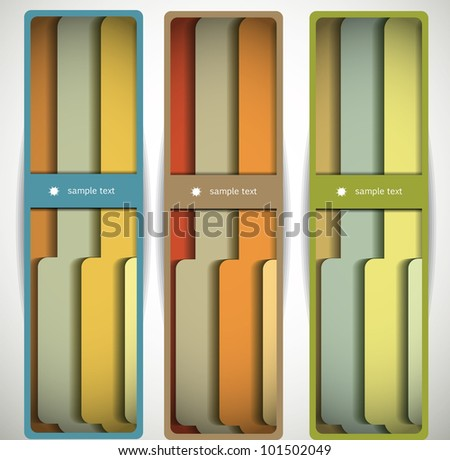 Abstract banners with folders - stock vector