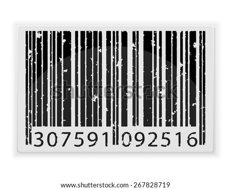 abstract barcode vector illustration isolated on white background - stock vector