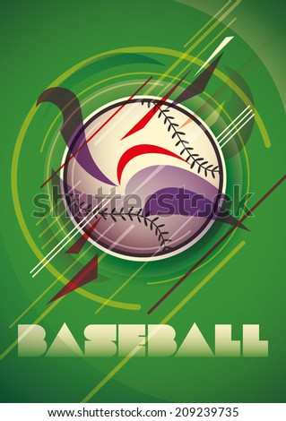 Abstract baseball poster. Vector illustration.